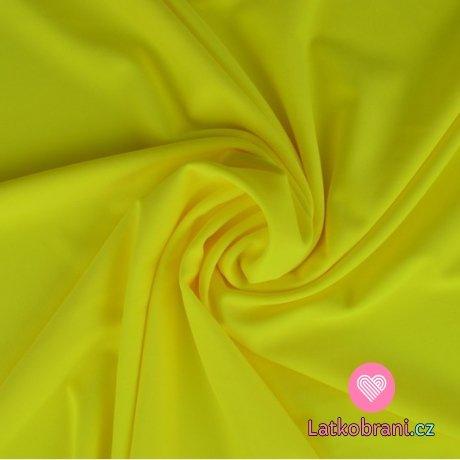 Plavkovina (lycra) jednobarevná neonově žlutá