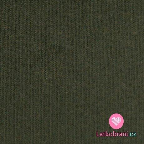 Italská pletenina, počesaná khaki zelená