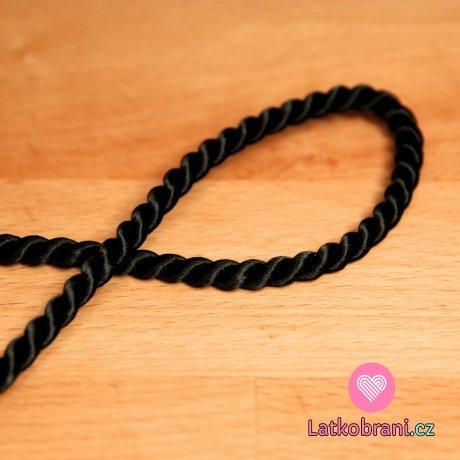 Šňůra kroucená černá