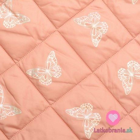 Prošev se stříbrnými motýlky na růžové