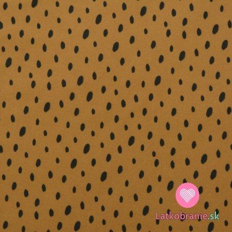 Softshell potisk nepravidelné puntíky na hořčicové