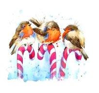 Panel tři ptáčci na hůlce