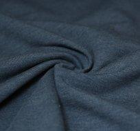 Jednobarevná teplákovina jeans melé tmavá 290g
