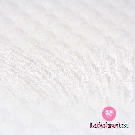 Pletenina plastické bublinky bílá