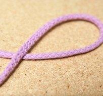 Šňůra kulatá oděvní bavlna 4 mm světle fialová