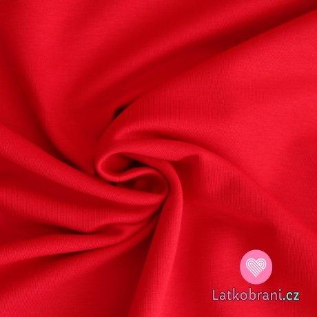 Jednobarevná teplákovina červená 290g