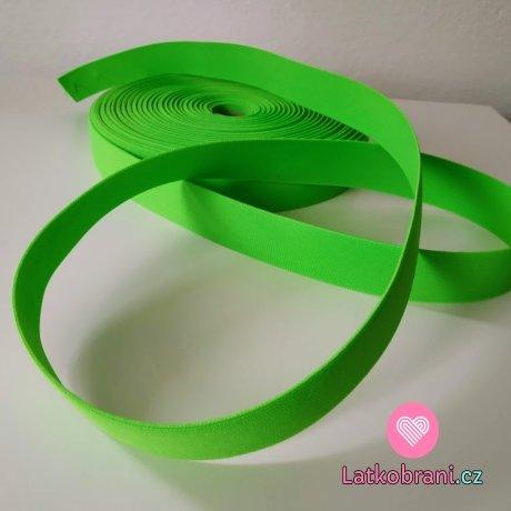 Pruženka barevná neonově zelená 30 mm oděvní