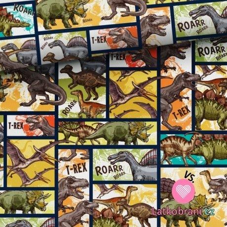 Teplákovina komiks dinosauři