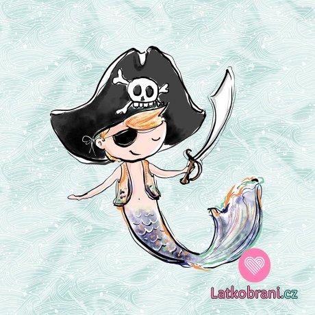 Panel mořský chlapec pirát ve vlnách