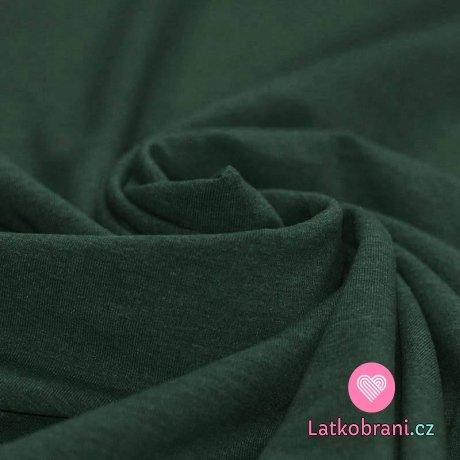 Jednobarevný úplet tmavě zelené melé
