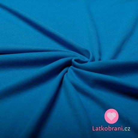Jenobarevný oboulícní úplet královsky modrý
