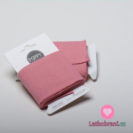 Náplet kusový jednobarevný růžový 135 cm