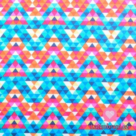 Plavkovina (lycra) barevné trojúhelníky