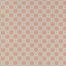 Bavlněné plátno modrá a růžová kvítka na růžové