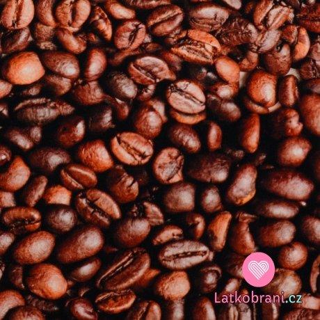 Úplet potisk zrnka kávy