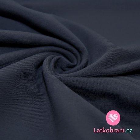 Jednobarevná teplákovina šedá tmavá 290g