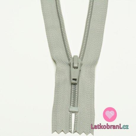 Zip spirálový nedělitelný šedo-béžový 15 cm