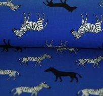 Úplet zebry na královsky modré