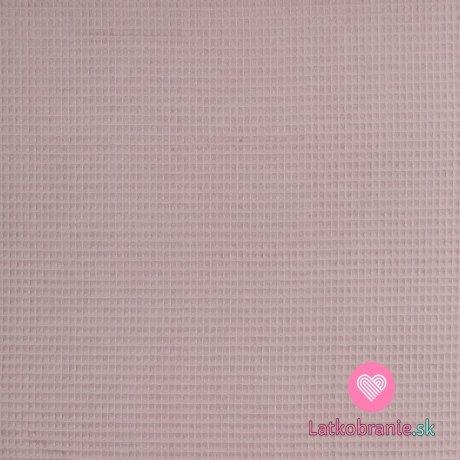 Bavlněná vaflovina jednobarevná starorůžová
