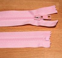 Zip kostěný dělitelný 55cm růžová dětská