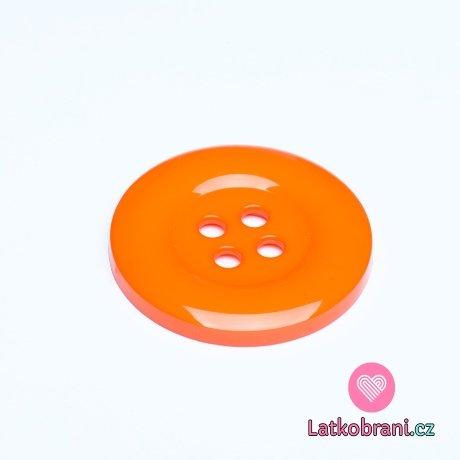 Knoflík mega velký oranžový