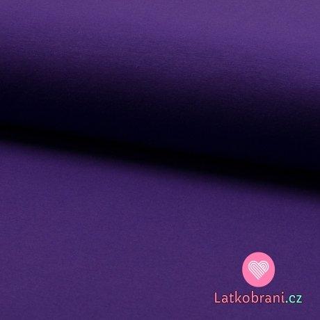 Jednobarevná teplákovina sytě fialová