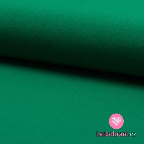 Jednobarevná teplákovina zelená tmavá