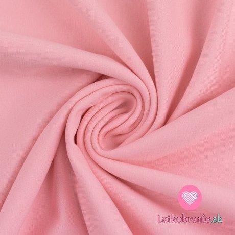 Teplákovina jednobarevná počesaná růžová světlejší
