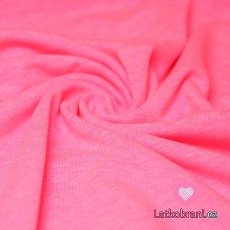 Jednobarevný úplet neon růžový 215g