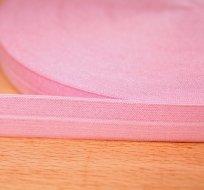 Šikmý proužek / lemovací pruženka růžová dětská 19mm-zbytek