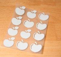 Reflexní nažehlovačka jablíčka (12ks)