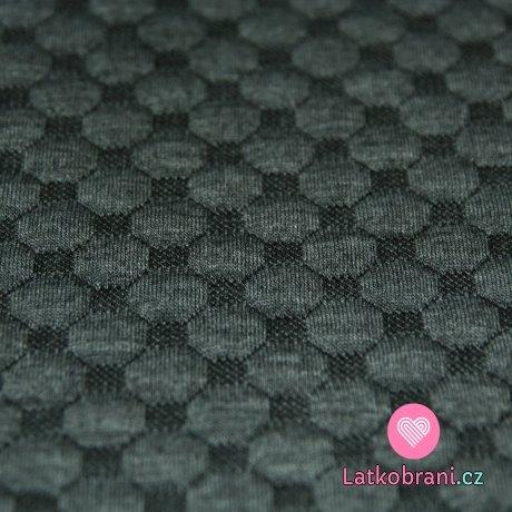 Pletenina plastické bublinky středně šedé melé