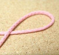 Šňůra kulatá oděvní bavlna 4 mm růžová