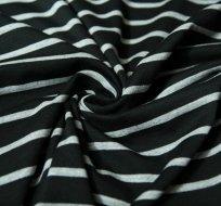 Úplet proužky téměř černé širší s šedými užšími
