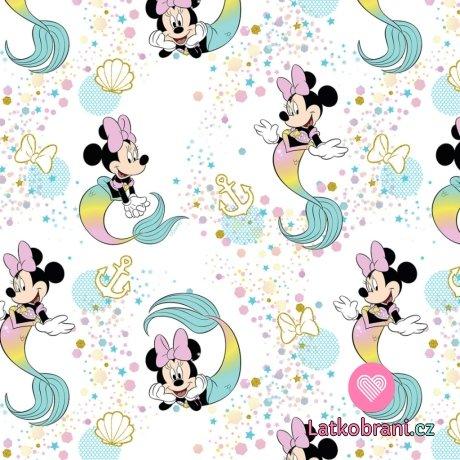 Bavlněný popelín Minnie Mouse