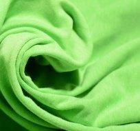 Úplet jednobarevný neon zelený melé