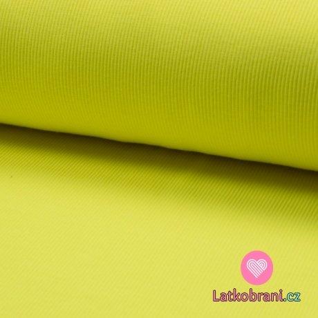 Náplet žebro neon žlutý