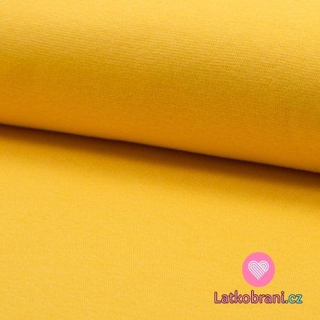 Náplet hladký žlutý