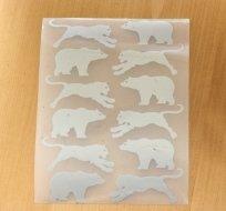 Reflexní nažehlovačka šelma, medvěd (12ks)