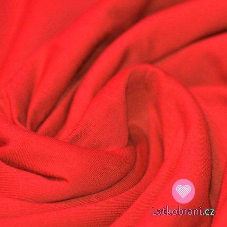 Jednobarevný úplet červený 240 g