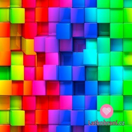 Úplet potisk barevné pixely