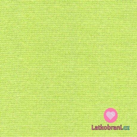 Jednobarevný, jednolícní bavlněný úplet zelený