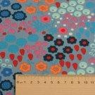 Úplet potisk abstraktní rozkvetlá zahrada na fialovo-modré