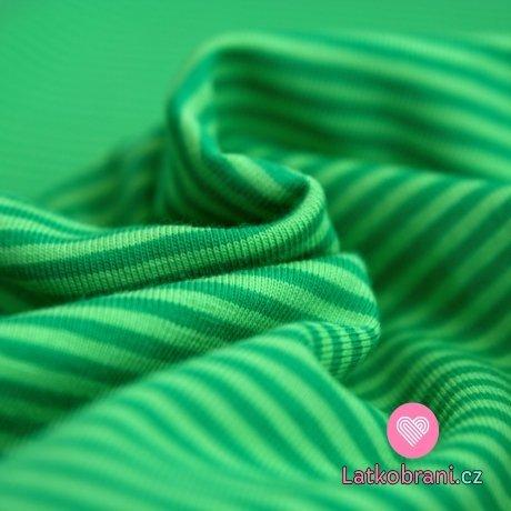 Úplet proužky zelený s tmavě zelenou (malé)