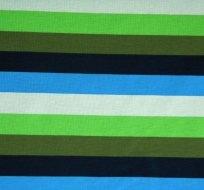 Úplet proužek modrý, zelený