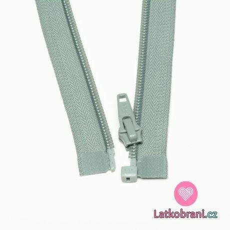 Zip spirálový dělitelný šedý 45cm