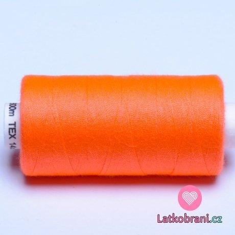 Nitě hagal - neon oranžová 500 m (14x2)