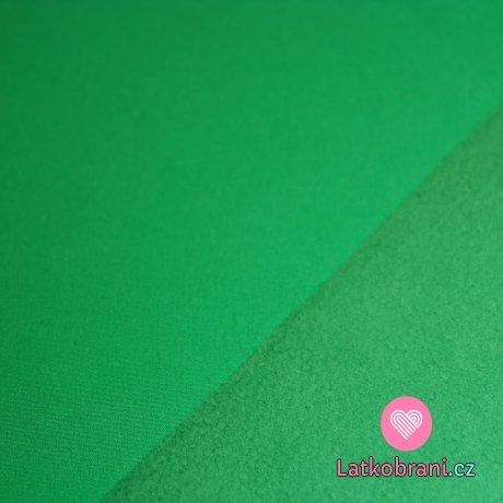 Softshell zelený tmavější s fleecem