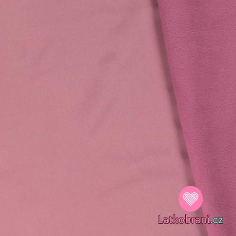 Softshell růžový s fleecem