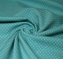 Úplet puntíky bílé drobné na šedo-zeleném podkladu